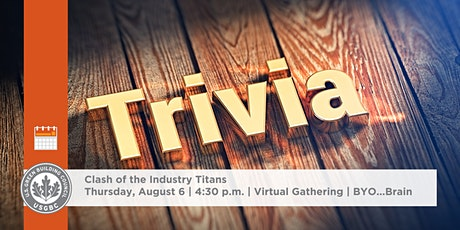 Clash of the Industry Titans: USGBC WNC Trivia Hour tickets
