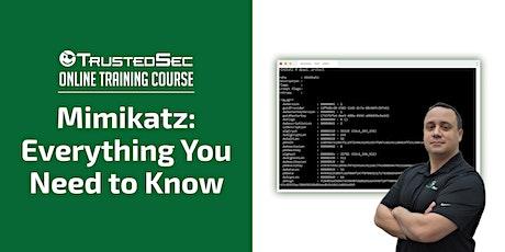 Mimikatz: Everything You Need to Know - Online Training ingressos