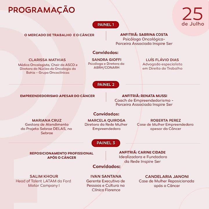 Imagem do evento JORNADA  MULHER, TRABALHO E CÂNCER - 24 e 25 de julho (8h30 às 13h)