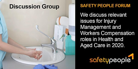 Discussion Group: Injury Management Forum - Health and Aged Care in 2020 tickets