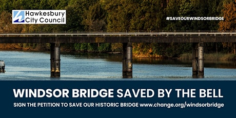 Windsor Bridge saved by the bell tickets