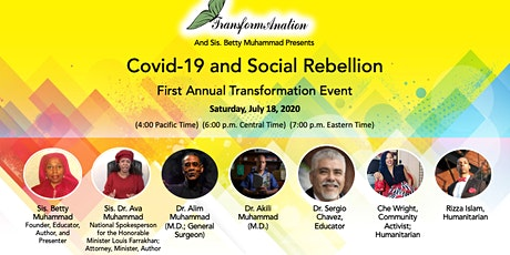 Covid-19 and Social Rebellion First Annual Transformation Event tickets