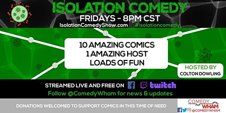 Isolation Comedy by Comedy Wham - 7/24/2020 tickets