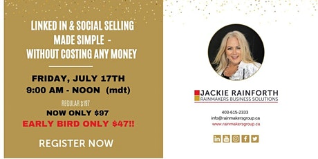 Social Selling- Grow Your Business on LinkedIn Without Spending Money tickets