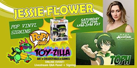 Funko POP SWAP SIGNING #4 TOY-ZILLA with JESSIE FLOWER tickets