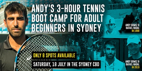 Andy's 3-hour Tennis Boot Camp For Adult Beginners tickets