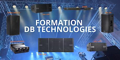 Formation dB Technologies. billets