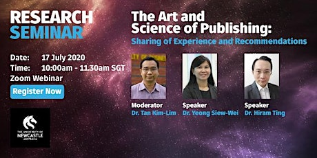 Research Seminar: The Art and Science of Publishing [Webinar] tickets