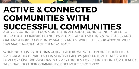 Active & Connected Communities Series tickets