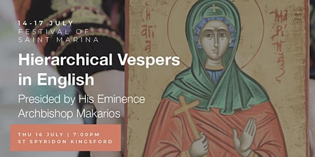 Hierarchical Vespers for Saint Marina tickets