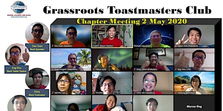 Online Zoom Meeting at Grassroots Toastmasters tickets
