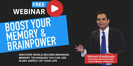 Guinness Record Holder Teaches How To Boost Your Memory & Learning Power tickets
