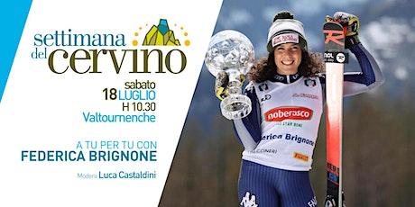 Settimana del Cervino - STREAMING - A tu per tu con Federica Brignone tickets