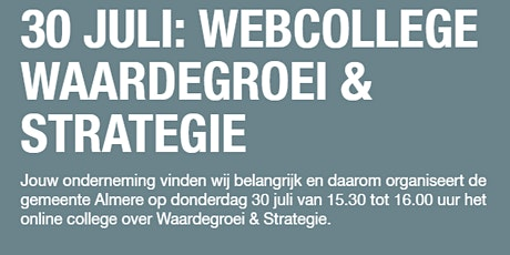 Webcollege Waardegroei en Strategie tickets