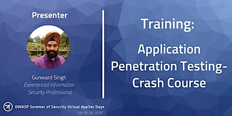 OWASP Application Security Crash Course (July 28-29) tickets