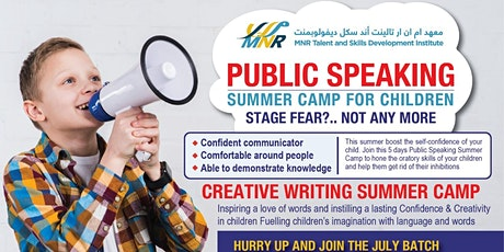 Summer classes on Public Speaking and Creative Speaking tickets