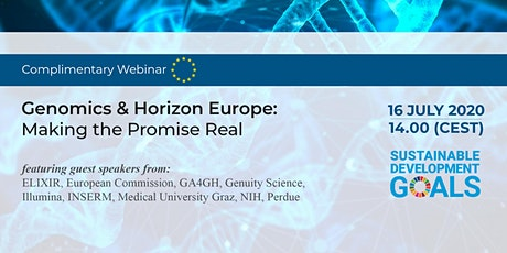 Genomic medicine and Horizon Europe: making the promise real tickets