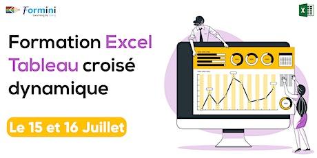formation en direct live online Excel : Tableau Cr billets