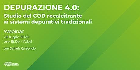 Depurazione 4.0: COD recalcitrante ai sistemi depurativi tradizionali biglietti