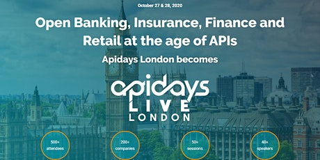 apidays LIVE LONDON - Open Banking, Insurance, Finance and Retail tickets