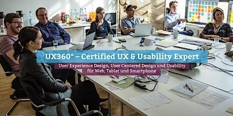 UX360° – Certified UX & Usability Expert (eng.), Munich billets