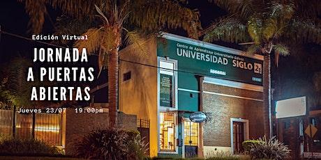 Jornada a Puertas Abiertas Universidad Siglo 21 CAU Gálvez entradas