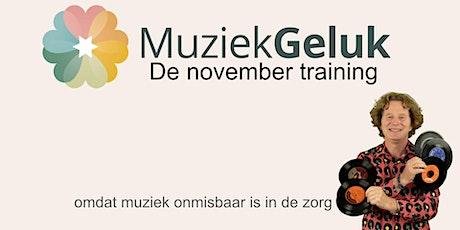 November training van MuziekGeluk tickets