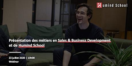 Webinar - Présentation des métiers en Sales & Business Development billets
