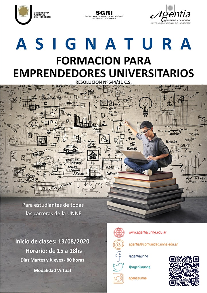 Imagen de ASIGNATURA FORMACIÓN PARA EMPRENDEDORES UNIVERSITARIOS - 2ºSemestre2020
