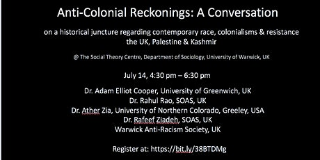 Anti-Colonial Reckonings tickets