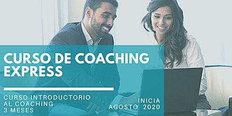 Curso de Coaching Express 3 meses - Webinar Informativo GRATIS entradas