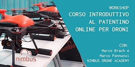Corso introduttivo al patentino Online per Droni con Nimbus Drone Academy biglietti