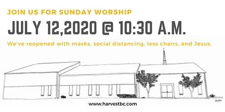 July 12, 2020 Worship Service tickets