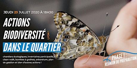 Actions biodiversité dans le quartier #Lyon1 billets