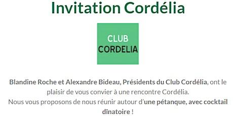 Rencontre Cordélia - Pétanque billets