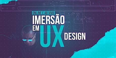 Curso Imersão em UX Design Online e Ao vivo ingressos