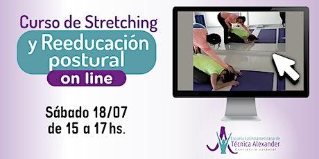 Curso Online  Stretching y Reeducación postural con Técnica Alexander entradas