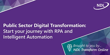 Public Sector Digital Transformation: Start your journey with RPA and IA tickets