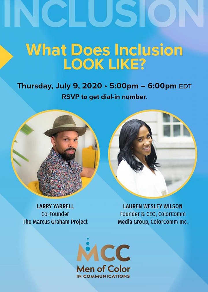 MCC Office Hours: What Does Inclusion Look Like? w/ Larry Yarrell image