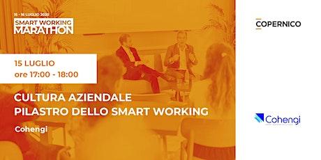 Cultura aziendale pilastro dello smart working | Smart Working Marathon biglietti