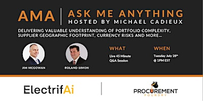 AMA- Ask Me Anything- with Jim McGowan & Roland Simon of ElectrifAi