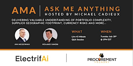 AMA- Ask Me Anything- with Jim McGowan & Roland Simon of ElectrifAi tickets