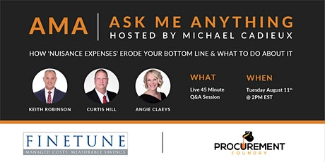 AMA -Ask Me Anything-Keith Robinson, Curtis Hill & Angie Claeys of FINETUNE tickets
