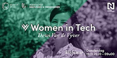 Webinar Women in Tech: Dewi Van De Vyver opens up