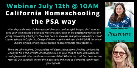 California Homeschooling the PSA way tickets
