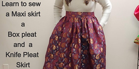 Learn the Art of Sewing 3 Skirts Online (Free Hand)- (No Sewing Pattern Nee tickets