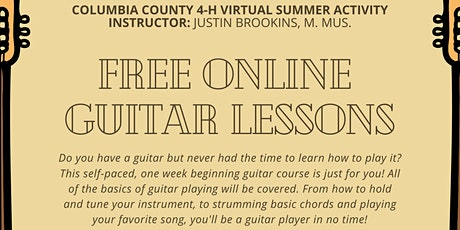 Virtual Guitar Lessons - Week 1: July 20-24 (FREE - Youth & Adults) tickets
