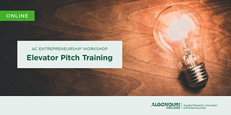 AC Entrepreneurship: Elevator Pitch Training tickets