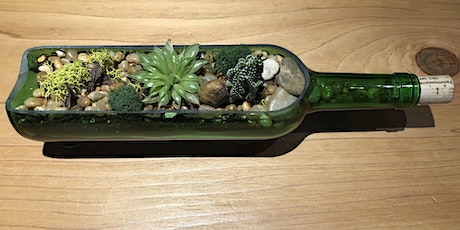 Wine Bottle w/Fairy Lights Succulent Workshop 7.22.20 tickets