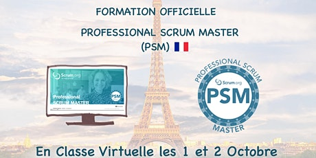 Formation Scrum.org Professional Scrum Master (PSM) en Français (Vituel) billets